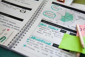 Вдохновляющий ежедневник: колесо баланса и цели на месяц