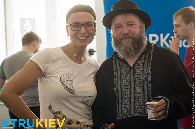 Билл Борман, создатель формата анти-конференций #TRU, и Анна Стеценко, организатор #TRUKiev