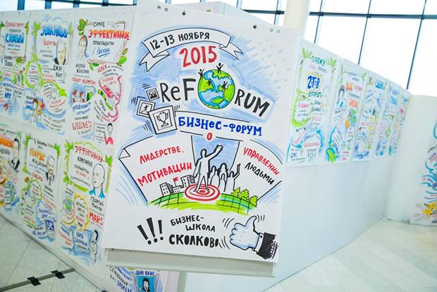 """Скрайбинг для вашего события. Пример скрайбинга на People Management ReForum """"Winning The Hearts"""" Russia 2015"""