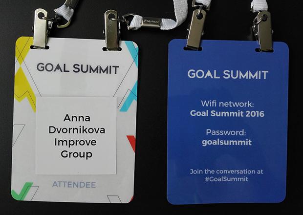 Традиционная рубрика в блоге UXevent — бейдж линч: Goal Summit 2016 в Сан-Франциско